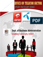 Report of Customer Service on Telecom Sector ( a Case Study of Sylhet Zone)