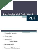 Patologías del Oído Medio