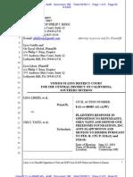 LIBERI v TAITZ (C.D. CA)  - 186 - OPPOSITION to First MOTION to Dismiss Case under 425.16 AntiSLAPP - gov.uscourts.cacd.497989.186.0