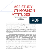 A Case Study in Anti Mormon Attitudes - Elim Pentecostal Church Huddersfield