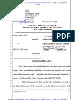 LIBERI v TAITZ (C.D. CA) - 186.3 - # 3[RECAP] Declaration of Lisa Liberi, - gov.uscourts.cacd.497989.186.3