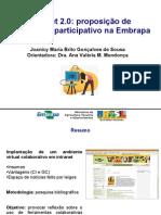 Proposta de jornalismo participativo na Embrapa