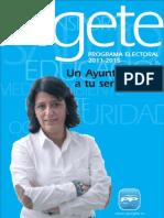 Programa Electoral 2011-2015 Partido Popular Algete