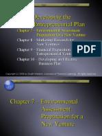 Environmental Assessment Preparing for New Venture