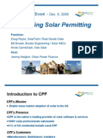 Solar Permitting Webinar Clean Power Finance