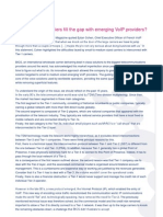 Whitepaper-easyconnect Voip or How Can Tier-1 Fill the Gap With Emerging Voip Providers