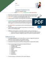 Computing Fundamentals Revision Notes