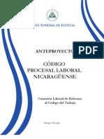 Codigo Procesal Laboral Nicaraguense
