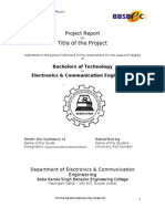 B.tech Project Report Format 2008