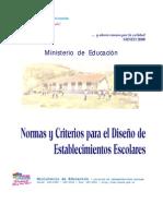 F Normas y Criterios Para El Diseo de Estab Escolares