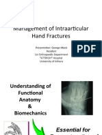 Management of Intraarticular Hand Fractures