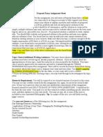 Proposal Essay Assignment Sheet