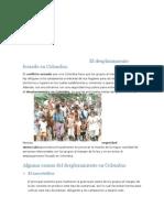 El Des Plaza Mien To en Colombia Es Un Problema de Todos