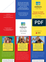 Parent Child Swim Lesson Brochure