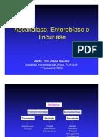 Ascaridiase Enterobiase e Tricuriase