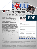 Freedom Parade Flier 2011