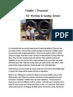 Overview of Toddler & Preschool Church Curriculum