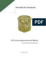 ACTA y sus repercusiones en México