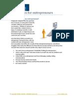 Workshops for Entrepreneurs