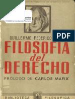 Hegel, Guillermo Federico - Filosofía del Derecho