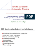 A Systematic Approach to BGP Configuration Checking