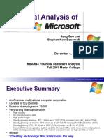 Microsoft Corp Power Point Presentation