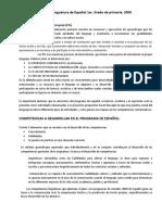 Asignatura de Español 2do. RIEB