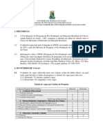 Edital Mestrado UFC 2011 PDF