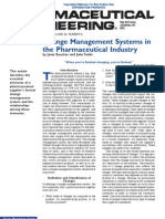 Change Management Systems in the Pharmaceutical Industry