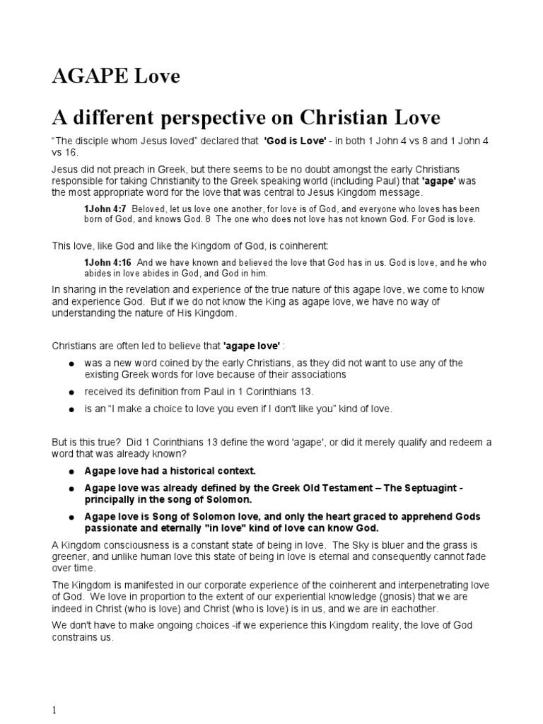 agape love | septuagint | love