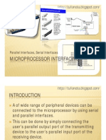 Microprocessor Interfacing- Parallel, Serial