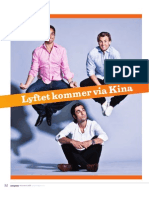 """""""Lyftet kommer via Kina"""", för Entreprenören"""