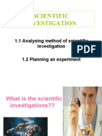 Scientific Investigation-science Form 4 Ppt