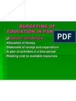Process of Budgeting of Education in Pakistan by Dr M H Shah AIOU Islamabad