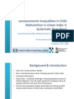 Socioeconomic Inequalities in Child Malnutrition in Urban India