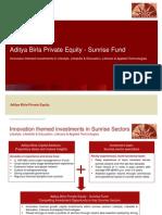 Sunrise Fund Pitchbook 1110v1