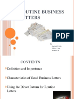 Routine Business Letters