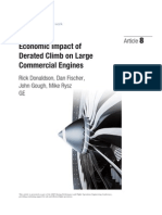 Economic Impact of Derated Climb on Large Commercial Engines