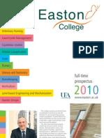 Easton College FE Prospectus 2010