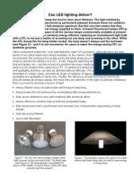Can LED lighting deliver