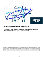 Bursary Information Pack 2011 Info]