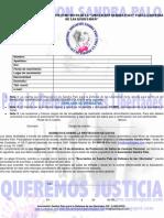 Hoja de Afiliación Aociación Sandra Palo