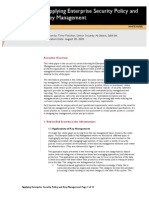 Applying Enterprise Security Policy and Key Managmeent White Paper FINAL