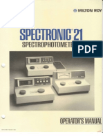Milton Roy Spectronic 21 Manual