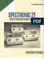 Milton Roy Spectronic 21 Manual