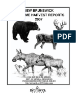 New Brunswick Big Game Harvest Reports, 2007