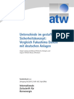 Vergleich Fukushima Daiichi mit deutschen Anlagen