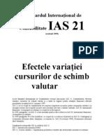 IAS Standardul International de ate IAS 21