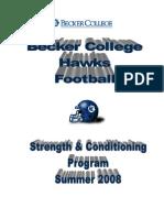 Becker College FB S&C
