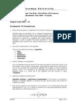 BSc Sem4 Algorithms Assignment 1 Ans